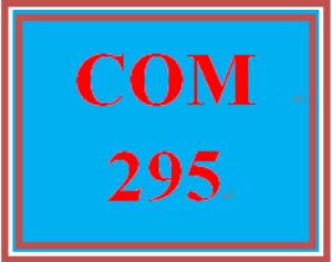 COM 295T Wk 4 Discussion – Presentation (New) | eBooks | Education