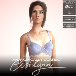 anatomically correct: ashlynn for genesis 3 and genesis 8 female