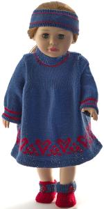 dollknittingpatterns 0215d erle - robe, culotte, bandeau et chaussures-(francais)