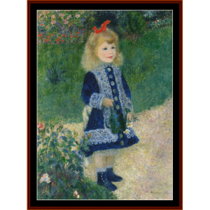 Girl with Watering Can, 2nd edition - Renoir cross stitch pattern by Cross Stitch Collectibles   Crafting   Cross-Stitch   Other