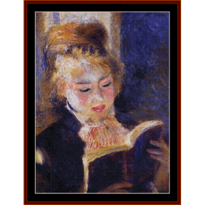Woman Reading, 2nd edition - Renoir cross stitch pattern by Cross Stitch Collectibles | Crafting | Cross-Stitch | Other