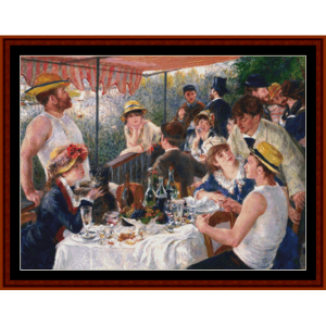 luncheon of the boating party, 2nd edition - renoir cross stitch pattern by cross stitch collectibles