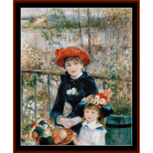 On the Terrace, 2nd edition - Renoir cross stitch pattern by Cross Stitch Collectibles | Crafting | Cross-Stitch | Other