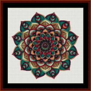 Mandala 6 (Small) cross stitch pattern by Cross Stitch Collectibles   Crafting   Cross-Stitch   Other