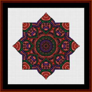 Mandala 18 (Small) cross stitch pattern by Cross Stitch Collectibles | Crafting | Cross-Stitch | Other