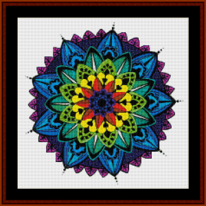 mandala 34 (small) cross stitch pattern by cross stitch collectibles