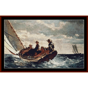 Breezing Up, 2nd edition – Winslow Homer cross stitch pattern by Cross Stitch Collectibles | Crafting | Cross-Stitch | Other