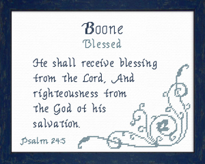 Name Blessings - Boone 2 | Crafting | Cross-Stitch | Other