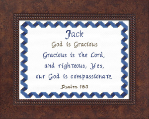 Name Blessings - Jack 3 | Crafting | Cross-Stitch | Other