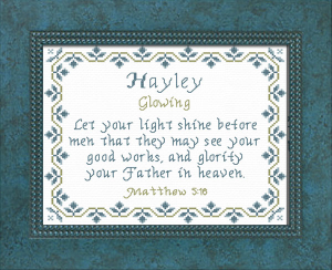 name blessings - hayley