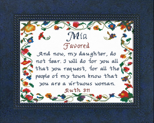 Name Blessings - Mia | Crafting | Cross-Stitch | Other