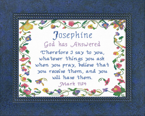 Name Blessings - Josephine 2 | Crafting | Cross-Stitch | Other