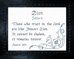 Name Blessings - Zion 3 | Crafting | Cross-Stitch | Other