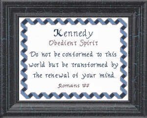 Name Blessings - Kennedy | Crafting | Cross-Stitch | Other