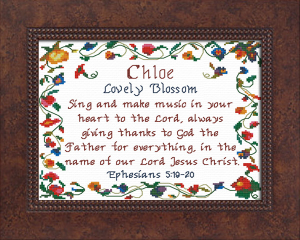 Name Blessings - Chloe 5 | Crafting | Cross-Stitch | Other