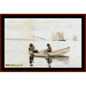 Boys Fishing, 2nd edition – Winslow Homer cross stitch pattern by Cross Stitch Collectibles | Crafting | Cross-Stitch | Other