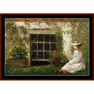the four leaf clover – winslow homer cross stitch pattern by cross stitch collectibles