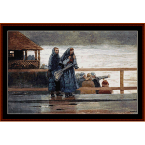 Perils of the Sea - Winslow Homer cross stitch pattern by Cross Stitch Collectibles | Crafting | Cross-Stitch | Other