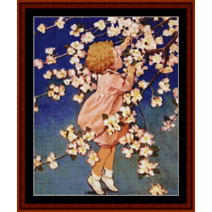 Picking Flowers – Jesse Willcox Smith cross stitch pattern by Cross Stitch Collectibles | Crafting | Cross-Stitch | Other