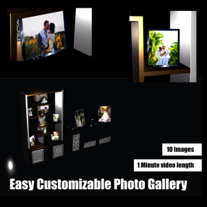 easy customizable video photo gallery after effect template
