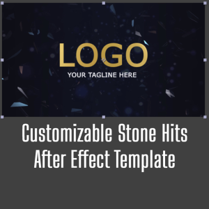 customizable stone hits after effect template