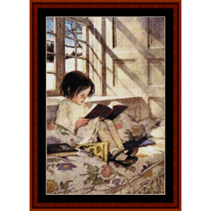 Books in Winter – Jesse Willcox Smith cross stitch pattern by Cross Stitch Collectibles | Crafting | Cross-Stitch | Other