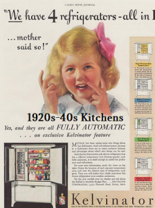 165 retro magazine ads - 1920's-40's kitchen furnishings and appliances
