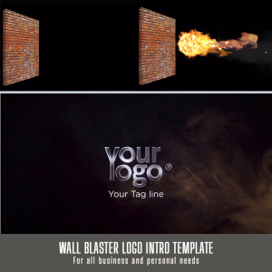 customizable wall blaster logo intro after effect template