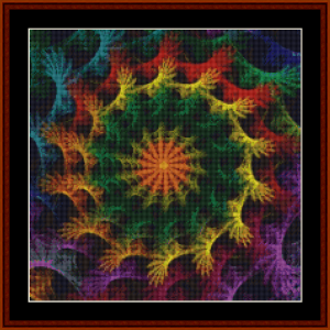 Fractal 637 (Small) cross stitch pattern by Cross Stitch Collectibles | Crafting | Cross-Stitch | Other