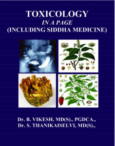 Toxicology In A Page (Including Siddha Medicine) | eBooks | Science