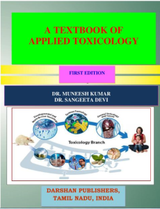a textbook of applied toxicology