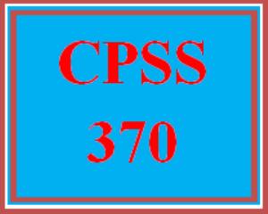 CPSS 370 Wk 4 - Team - Assessment Instrument Showcase   eBooks   Education