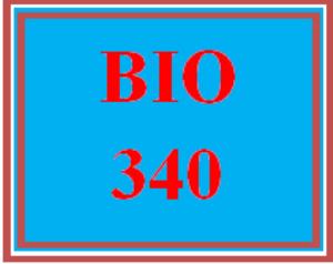 BIO 340 All Discussions   eBooks   Education