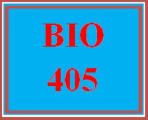 BIO 405 All Discussions | eBooks | Education