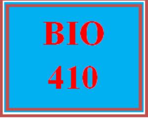 BIO 410 All Discussions   eBooks   Education
