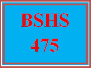 BSHS 475 Wk 3 - Program Evaluation | eBooks | Education