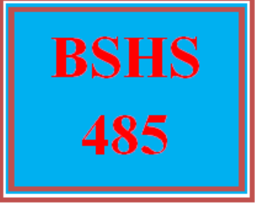 First Additional product image for - BSHS 485 Wk 3 Discussion - Title