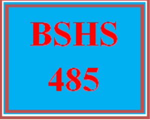 BSHS 485 All Discussions | eBooks | Education