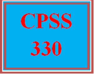 CPSS 330 All Discussions | eBooks | Education
