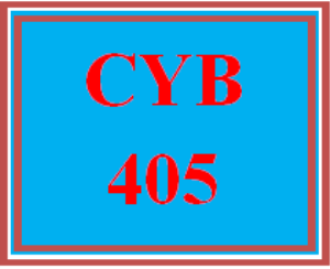 cyb 405 wk 1 discussion