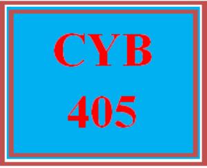 CYB 405 Wk 5 Discussion | eBooks | Education