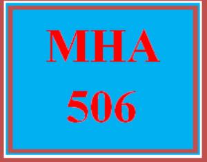 MHA 506 Week 6 Discussion Board | eBooks | Education