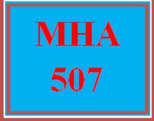 mha 507 week 3 discussion board