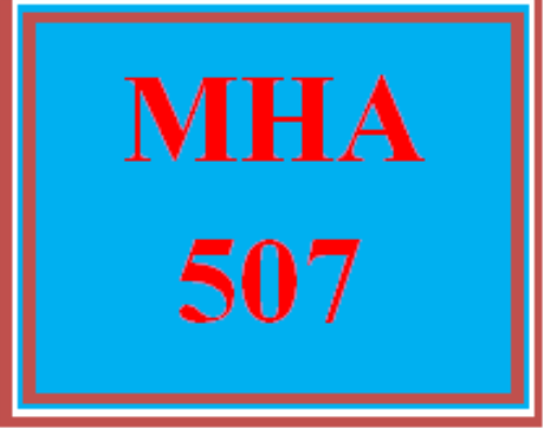 First Additional product image for - MHA 507 Week 4 Discussion Board
