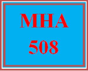 mha 508 week 4 discussion board