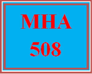 mha 508 week 6 discussion board