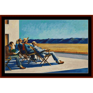 People in the Sun – Edward Hopper cross stitch pattern by Kathleen George at Cross Stitch Collectibles   Crafting   Cross-Stitch   Other