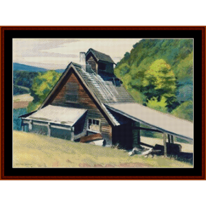 Vermont Sugar House – Edward Hopper cross stitch pattern by Kathleen George at Cross Stitch Collectibles | Crafting | Cross-Stitch | Other