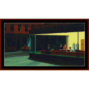 Nighthawks II – Edward Hopper cross stitch pattern by Kathleen George at Cross Stitch Collectibles | Crafting | Cross-Stitch | Other