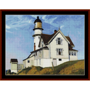 captain upton's house – edward hopper cross stitch pattern by kathleen george at cross stitch collectibles